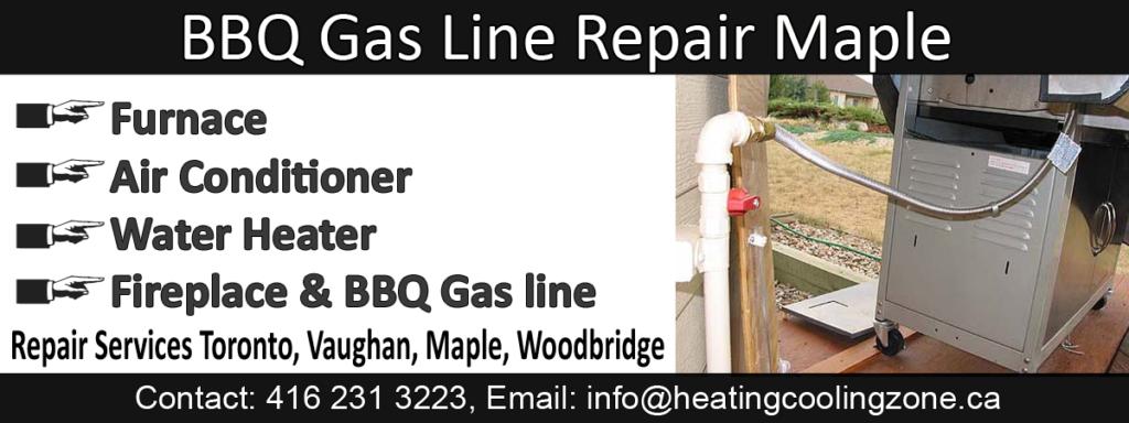 BBQ Gas Line Repair Maple